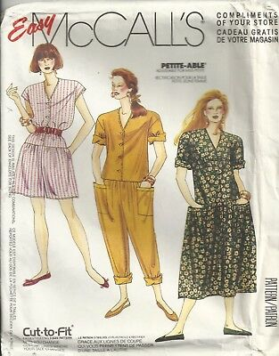 Mccalls 0022 Misses' Size 10-20 Jumpsuits & Dresses Sewing Pattern Vintage