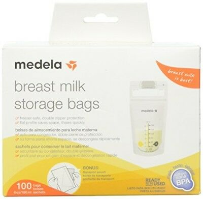 Medela Breast Milk Storage Bags, 100 Count Ready to Use Milk Storage Bags for Br