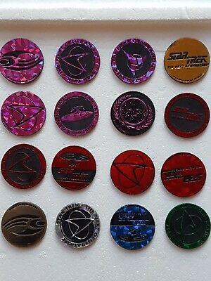 1995 Star Trek POG Slammers - Lot of 16 - Vintage - Excellent Condition