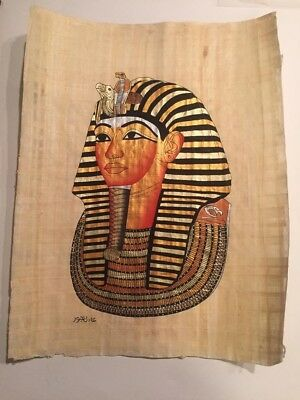 Egyptian Handmade Papyrus Art King Tut ( One of a kind ) (100% Made in Egypt)
