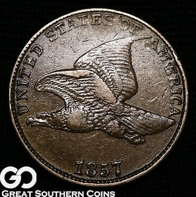 1857 Flying Eagle Cent, Sought After Early Copper-Nickel Type
