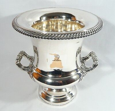 ANTIQUE Georgian OLD SHEFFIELD SILVER PLATE Champagne WINE COOLER Bucket 1836