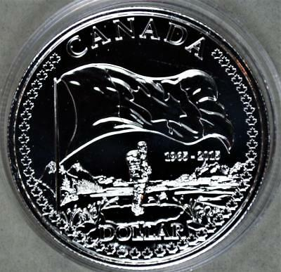 Canada 2015 1 Dollar Silver Coin - 50th Anniversary of Canada Flag Low Mintage