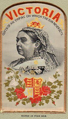 54233 Stevengraph Coventry Silk Victoria Queen of Empire on Which Sun Never Sets