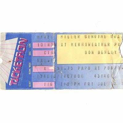 DON HENLEY Concert Ticket Stub COLUMBIA MD 7/13/90 MERRIWEATHER POST THE EAGLES