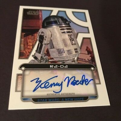 2018 Topps Star Wars Galactic Files White Autograph KENNY BAKER as R2D2 Auto 1/5