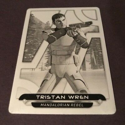 2018 Topps Star Wars Galactic Files   Tristan Wren   1/1 PRINTING PLATE
