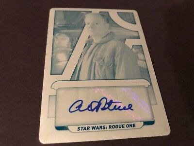 2018 Topps Star Wars Galactic Files  Auto Alistair Petrie General Draven 1/1