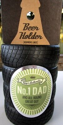"Beer Holder ""100% Authentic No.1 Dad & All Round Great Guy"" Father's Day Gift Bn"