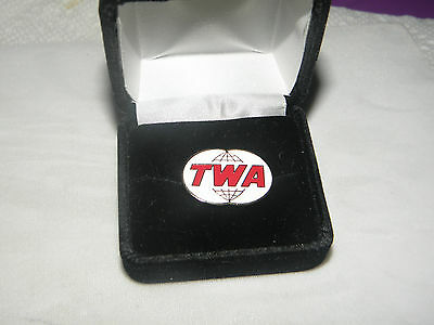 Trans World Airlines Twa Collectible Lapel Tack Pin Pilot Or F/a Christmas Gift