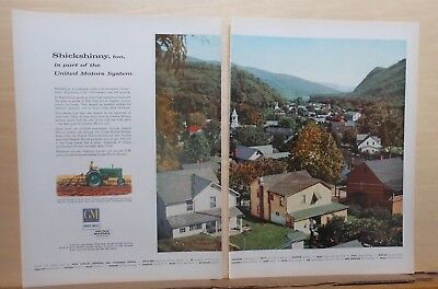1956 two page magazine ad for General Motors - Shickshinny Pennsylvania photo