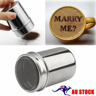 Stainless Steel Chocolate Cocoa Flour Shaker Icing Sugar Powder Coffee Duster R%
