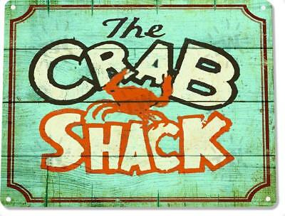 The Crab Shack Restaurant Beach Rustic Metal Decor Sign