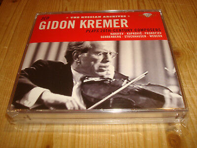 GIDON KREMER plays 20th Century Composers Russian Archives BRILLIANT 3 CD Signed