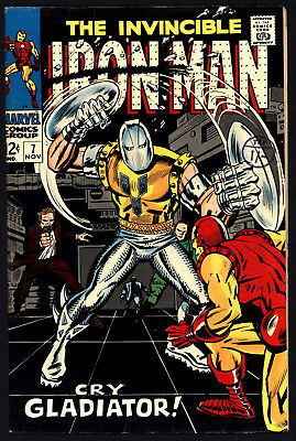 Iron Man 7 Nov 1968. Tight Spine And Structure, Ultra Glossy Cover    Great Copy