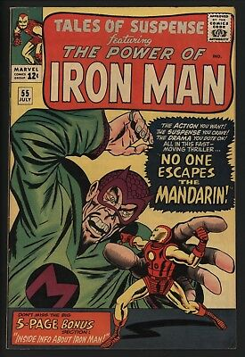 Tales Of Suspense 55. Great Mandarin Cover. Glossy Vf Cents Great White Pages