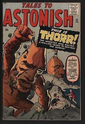Tales To Astonish #16 Great Cover! Thorr! Relates To Journey Into Mystery 83...