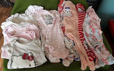 Bundle job lot girls clothes baby first size Newborn 6 sleepsuits 6 babygrows L1
