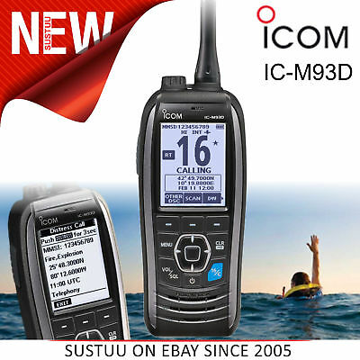 """Icom IC-M93D Marine Handheld VHF Transceiver with DSC│2.3""""LCD│GNSS Receiver│IPX7"""