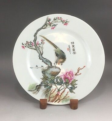 A beautiful Chinese early 20C marked famille rose dish-Republic