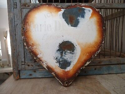 "Circa 1928, French ""Heart Shaped Memorial Plaque"""