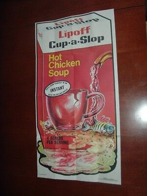 1973 1974 Topps Gum Co Wacky Packages Poster #23 Lipoff Cup A Soup