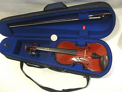 full size VIOLIN STENTOR STUDENT 1 with bow, fitted case, rosin