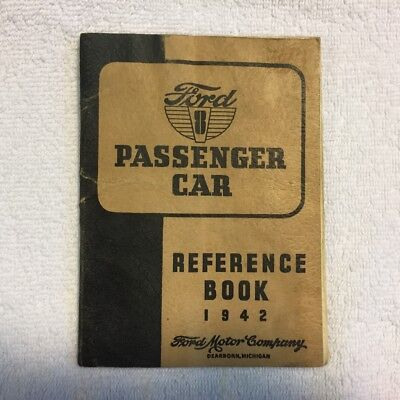 1942 Ford V-8 Passenger Car Reference Book (Owners Manual), 64 Pages