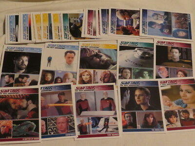 STAR TREK THE NEXT GENERATION 25 trading cards Sammelkarten Data Picard Troy