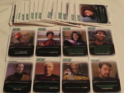 STAR TREK THE NEXT GENERATION THE QUOTABLE 56 trading cards Sammelkarten