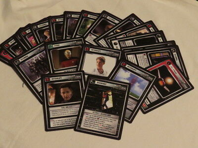 STAR TREK THE NEXT GENERATION 25 ccg cards customizable card game