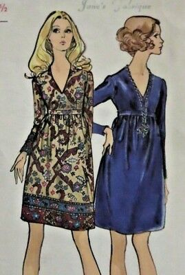 VTG 60s 70s Vogue hippie empire mini dress pattern 7723! Make in a border print!
