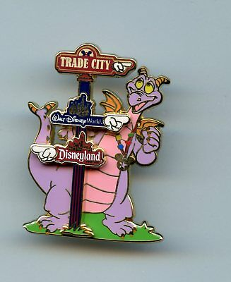 Trade City Figment Directional Sign Post for Disney World & Disneyland LE Pin