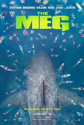 The Meg - original DS movie poster - 27x40 D/S Adv Giant Shark Megalodon