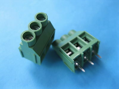 50 pcs Green 2 pin 6.35mm Screw Terminal Block Connector Wire Cage Type DC635