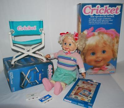 Vintage Cricket Doll 1986 + Cassette Tapes Chair in Box Playmates Works