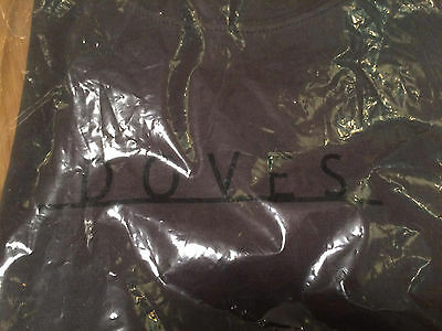 """NEW Official DOVES Logo T Shirt - Grey - Small - 32"""" Chest - Very Rare NEW"""