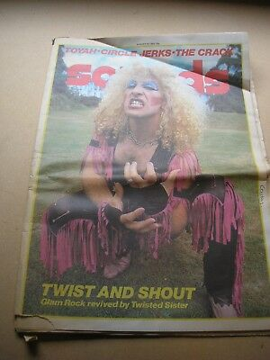 SOUNDS - Aug. 14th 1982 Twisted Sister Toyah Redskins Circle Jerks Saxon (ad)