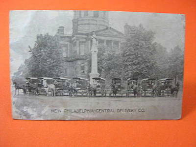 New Philadelphia OH Central Delivery Company Postcard 1908