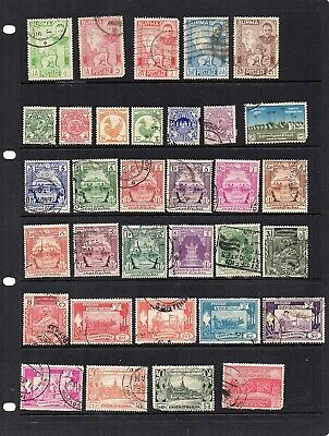 Stamps from old Album - Hinged Mint or Used - Burma x 33