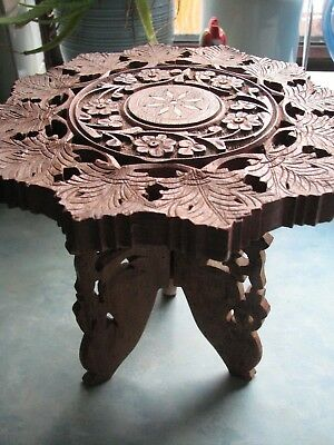 Vintage small Black-Forest-Wooden-Folding-Wooden-Table