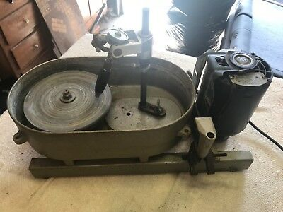 Lapidary gem maker / Faceting machine + box of tools, grinding agents, stones
