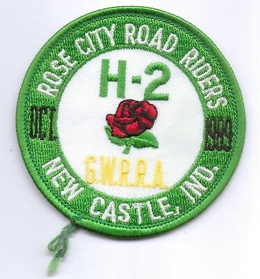 Rose City Road Riders-Oct 1989-New Castle,ind. Patch-Four Inches Width-New