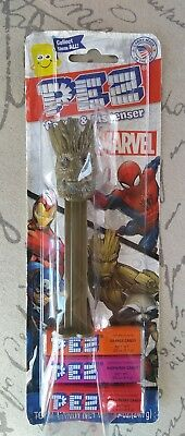 NEW Pez Marvel Guardians of Galaxy Groot 6 Packets of Candy Easter Dispenser