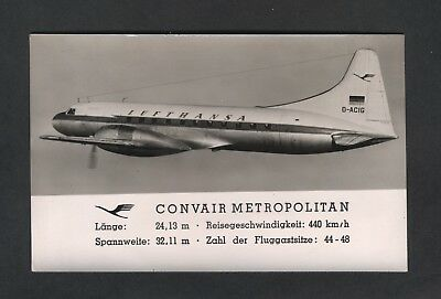 Aircraft Lufthansa ,convair Metropolitan ;pub Germany   Date Unknown
