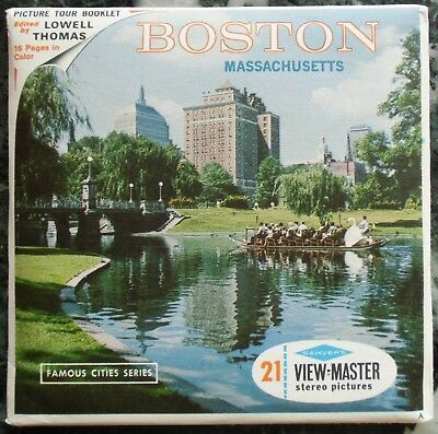 3 View-Master 3D Bildscheiben - Boston | Massachusetts + Booklet