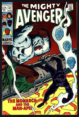 Avengers, #62 Mar 1969, Man-Ape Appears, Great Off White/white Pages!