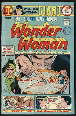 Wonder Woman #217 1975 Giant Size With White Pages!