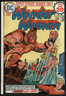 Wonder Woman #215 1975 With White Pages!