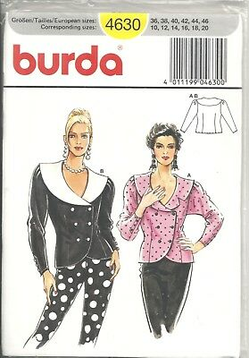 Burda 4630 Misses' Size 10-20 Tops Sewing Pattern Oop